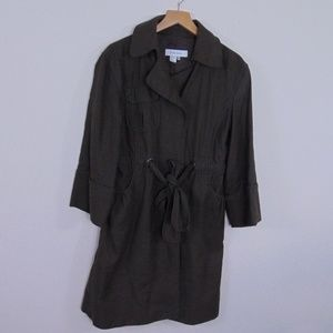 Zara Basic Women M Belted Front Jacket Trench Coat